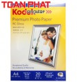 Giấy in ảnh KODAK Premium Photo Paper RC Gloss 270g - A4