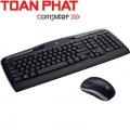 Keyboard + Mouse Logitech Wireless Desktop MK320 - USB - AP